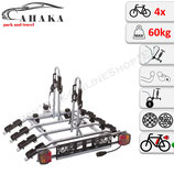 Fahrradträger Anhängerkupplung für 4 Fahrräder Heckträger AHK Fahrradheckträger - klappbar mit Schnellkupplung