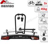 MERAK type Q RAPID  von Menabo – Fahrradträger für Anhängerkupplung mit Schnellkupplung u. Abklappmechanismus