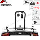 MERAK type K TILTING  von Menabo – Fahrradträger für Anhängerkupplung mit Abklappmechanismus