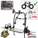 POLARIS Fahrradträger -  Heckklappenträger (FATBike, MTB, eBike) für 2 Fahrräder - von F.lli Menabo
