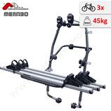 Fahrradträger StandUp3 / Fulcrum3 -  Heckklappenträger für bis zu 3 Fahrräder - von F.lli Menabo