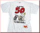 """T-Shirt """"Ich bin über 50"""""""