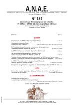 ANAE N° 169 - Le WISC-V dans la pratique clinique