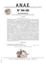 ANAE N° 104/105 - Psychomotricité