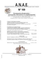 ANAE N° 109 - Enseignants/orthophonistes : Partenariats, interactions et complémentarités