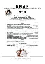 ANAE N° 141 - La rééducation neuropsychologique dans les troubles cognitifs chez l'enfant