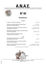 ANAE N° 93 - Remédiation
