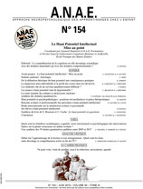 ANAE N° 154 - Le Haut Potentiel Intellectuel - Mise au Point