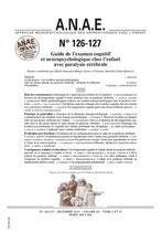 ANAE N°126/127 - Guide de l'examen cognitif et neuropsychologique chez l'enfant avec paralysie cérébrale