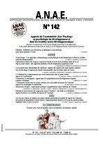 ANAE N° 142 - Apports de l'oculométrie (Eye-Tracking) en psychologie du développement et dans les troubles neuro-développementaux