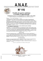 ANAE N° 115 - Autisme et Troubles des apprentissages