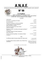 ANAE N° 99 - La Dysphasie