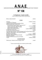 ANAE N° 130 - Les Bégaiements : données actuelles