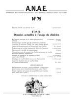 N° 79 - TDAH : Données actuelles à l'usage du clinicien