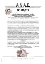 ANAE N° 112/113 - Le développement du jeune enfant