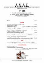 ANAE N°169 - L'échelle de Wechsler pour les enfants - 5e édition - (WISC-V) dans la pratique clinique