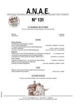 ANAE N° 131 - La Dysphasie chez l'enfant