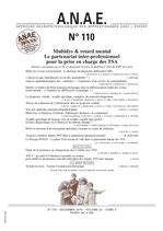 ANAE N° 110 - Multidys & retard mental Le partenariat inter-professionnel pour la prise en charge des TSA