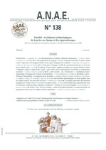 ANAE N° 138 - Surdité - Technologies, prises en charge et apprentissages