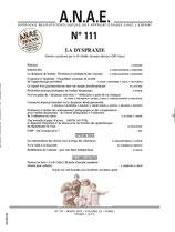 ANAE N° 111 - La Dyspraxie
