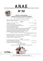 ANAE N° 157 - Attention et Apprentissages : approches innovantes et nouvelles technologies