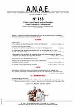 ANAE N° 168 - Corps, espaces et apprentissages chez l'enfant et l'adolescent