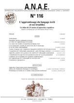 ANAE N° 116 - Troubles du langage écrit - Approche cognitive