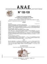 ANAE N° 132-133 - Apport de la neuropsychologie à l'examen psychologique enfant