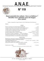 ANAE N° 119 -  Haut potentiel des enfants : force ou faiblesse