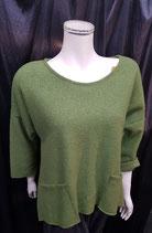 Pullover grün / hinten länger