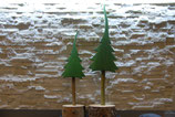 farbige Weihnachtsbäume bemalt - Bodenaufsteller