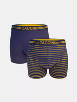 Herenshorts 2-pk stripes & blue