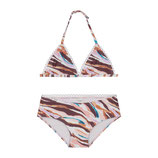 Girls painted zebra triangle bikini