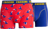 Herenshorts 2-pk birds & blue