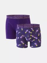 Herenshorts 2-pk aubergine & purple
