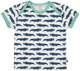 loud + proud -  T-Shirt Krokodile, ultramarine