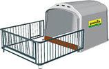 Patura Kälberhütte XL mit Umzäunung - Lieferung FREI HAUS