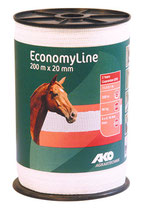 EconomyLine Weidezaunband weiß 20mm 200m