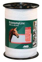 EconomyLine Weidezaunband weiß 40mm 200m