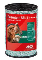 AKO Premium Ultra Weidezaunlitze 2,5mm 400m