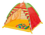 Bällebad mit Zelt