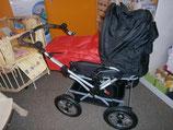 Kombikinderwagen schwarz mit roter Softtasche
