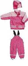 *Regenanzug mit Fleecefutter pink/rosa