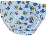 UV-Schutz Windelhose Fische hellblau