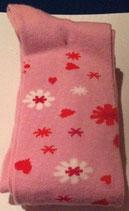 Strumpfhose rosa mit Muster Gr.110/116