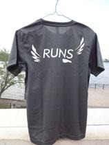 RUNS‐Tシャツ レギュラータイプ ダークグレー