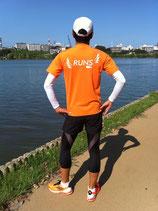 RUNS‐Tシャツ レギュラータイプ オレンジ