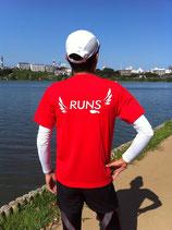 RUNS‐Tシャツ レギュラータイプ レッド