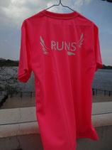 RUNS‐Tシャツ レギュラータイプ フルオレンスピンク(蛍光)