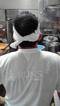 RUNS‐Tシャツ レギュラータイプ ホワイト